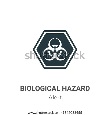 Biological hazard vector icon on white background. Flat vector biological hazard icon symbol sign from modern alert collection for mobile concept and web apps design.