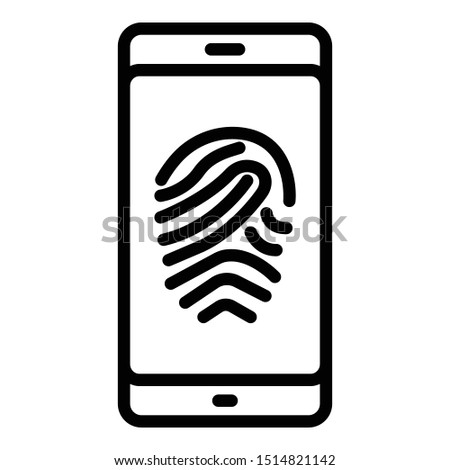 Biometric access, biometric attendance  Isolated Vector Which can easily modify or edit
