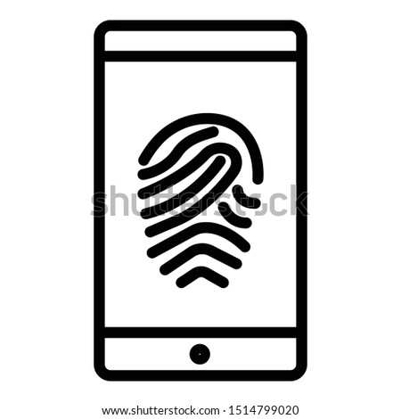Biometric access, biometric authentication Isolated Vector Which can easily modify or edit