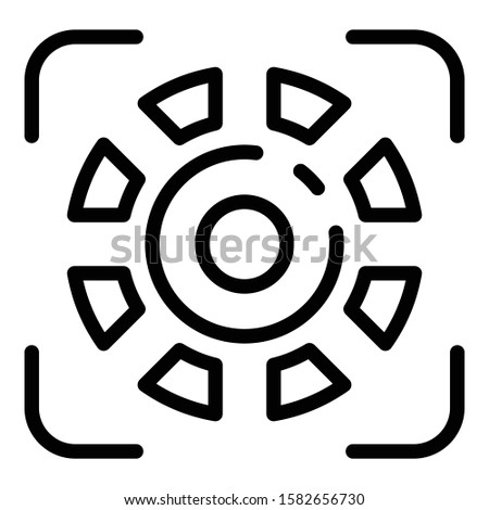 Biometric authentication icon. Outline biometric authentication vector icon for web design isolated on white background