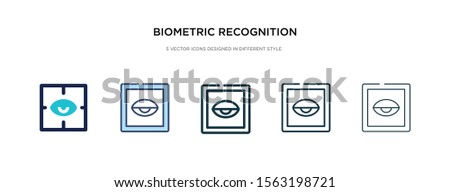 biometric recognition icon in different style vector illustration. two colored and black biometric recognition vector icons designed in filled, outline, line and stroke style can be used for web,