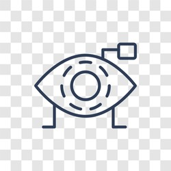 Bionic eye icon. Trendy linear Bionic eye logo concept on transparent background from Artificial Intellegence and Future Technology collection