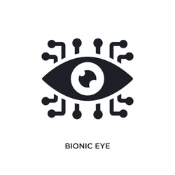 bionic eye isolated icon. simple element illustration from artificial intellegence concept icons. bionic eye editable logo sign symbol design on white background. can be use for web and mobile