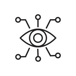 Bionic eye outline icon vector artificial intellegence and future technology collection concept for your web site design, logo, app, UI. illustrationt