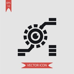 Bionic lens vector icon illustration symbol