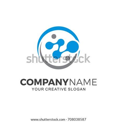 Biotech logo. Business  logo illustration