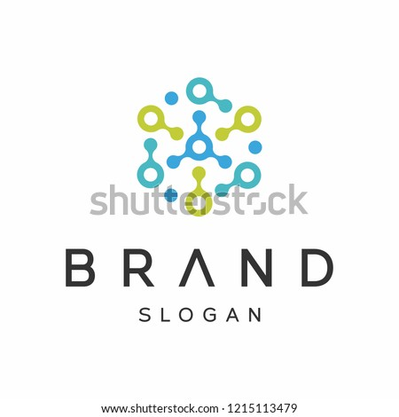 Biotech, Molecule, DNA, Atom, Medical or Science Logo Design Vector