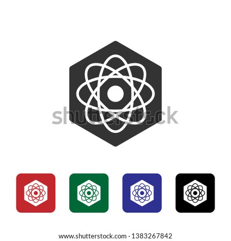 Biotechnology, atom vector icon. Simple element illustration from biotechnology concept. Biotechnology, atom vector icon. Bioengineering vector Illustration.