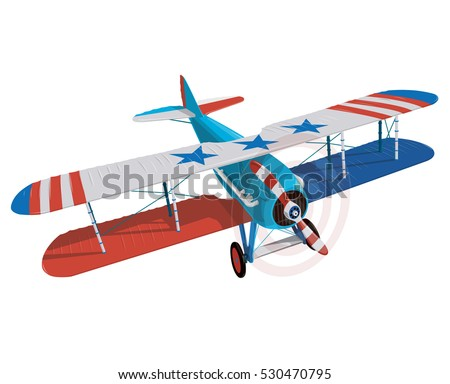 biplane from world war with