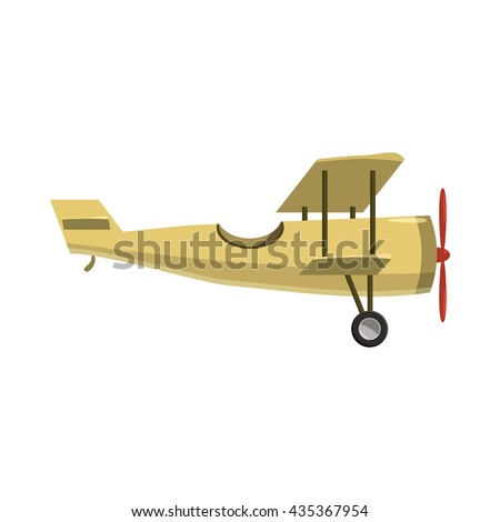 biplane icon  cartoon style