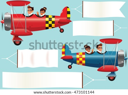 biplanes and banners