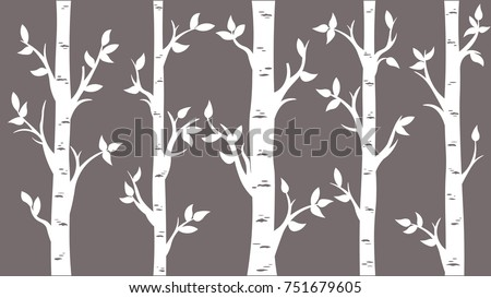 birch grove background vector
