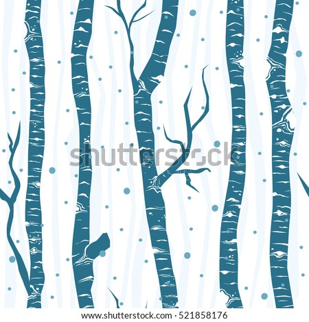 birch trees seamless vector