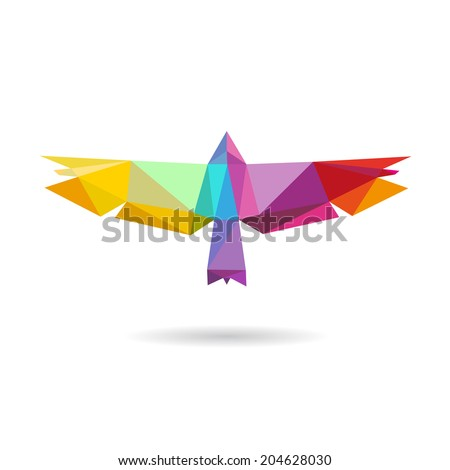 bird abstract isolated on a