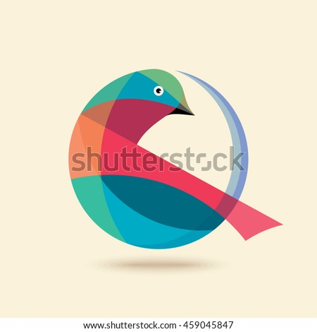 Bird Abstract Logo design vector design