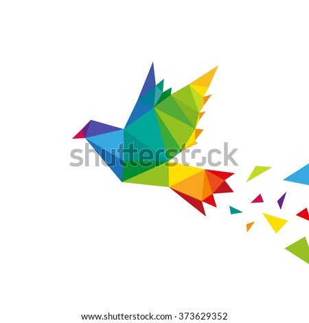 bird abstract triangle design