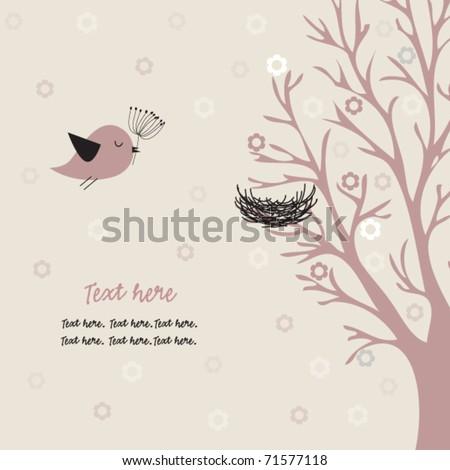 Bird and nest