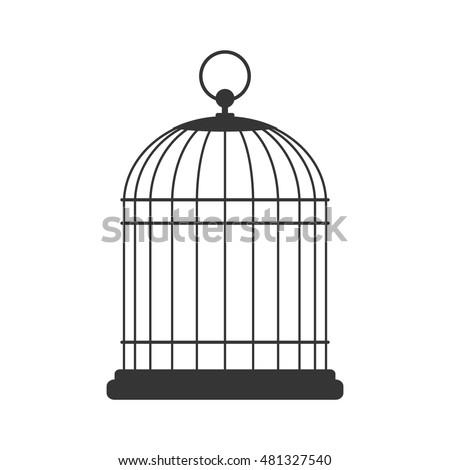 Bird cage, vector design