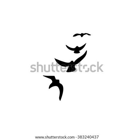 Bird crow icon. Simple illustration.