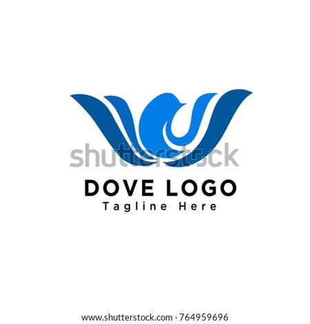 bird flower blossom logo