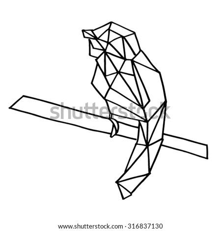 bird geometric animal life nature shape shapes art arts design designs element elements illustration illustrations vector vectors line lines lineart birds