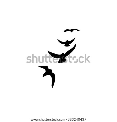 bird icon and vector