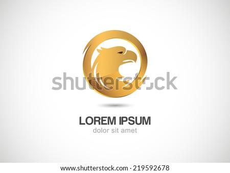 bird in circle golden frame