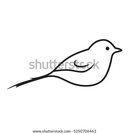 Bird lines vector