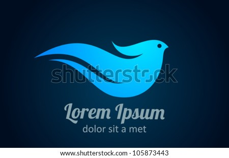 Bird logo template. Abstract Icon. Business concept. Use for any type of company.