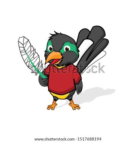 Bird mascot, bird logo, bird mascot.