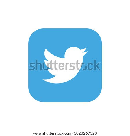 bird on blue and white background