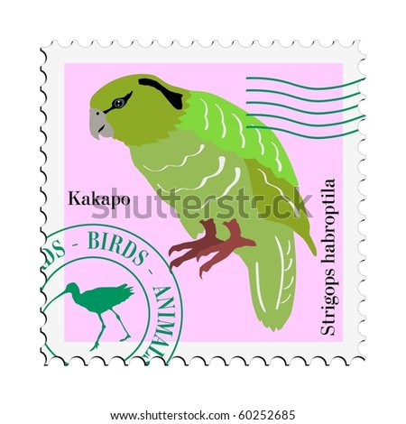 bird on stamp