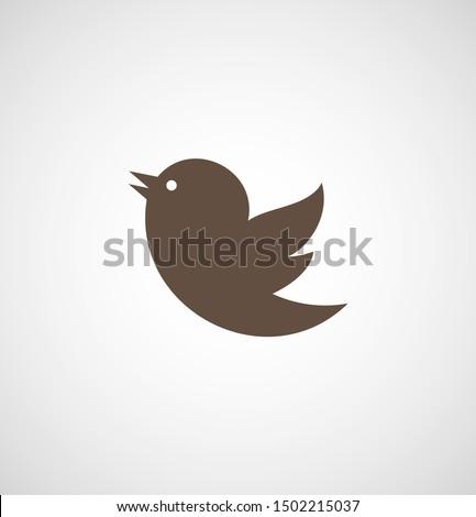 bird vector icon  a little bird