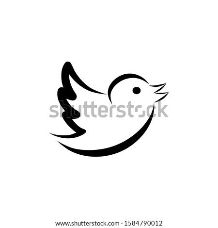 bird vector icon isolated on