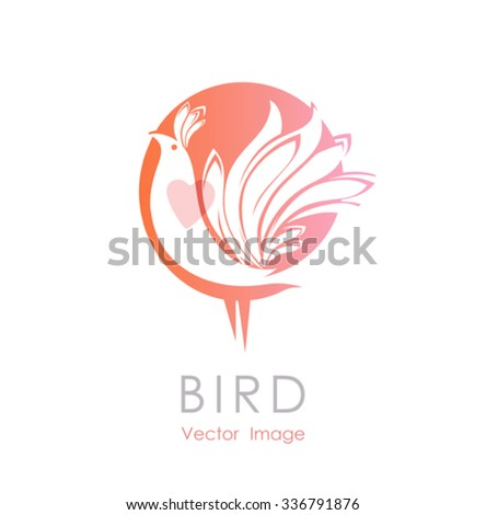 bird with heart   beautiful