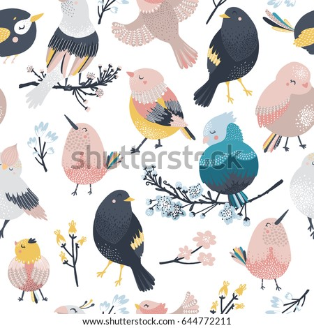 birds and flowers  animal