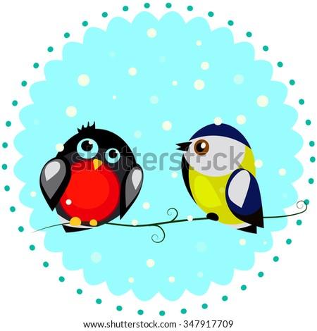 birds and snow
