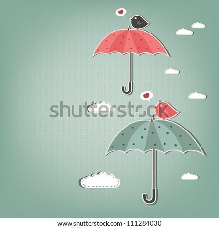 birds and umbrellas