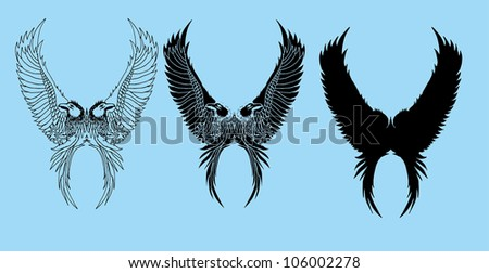 birds design - stock vector