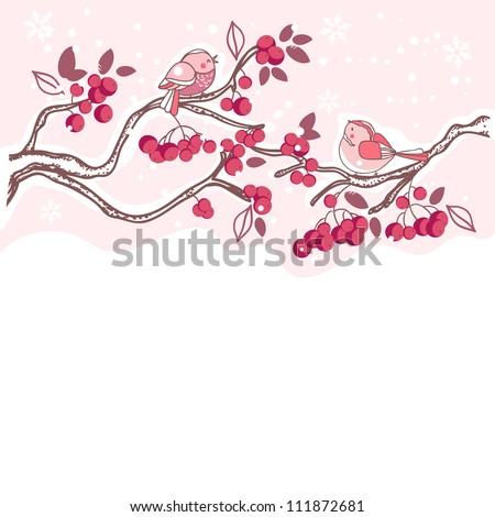 birds on a berry tree