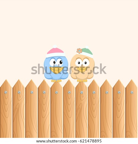 birds sitting on the wooden