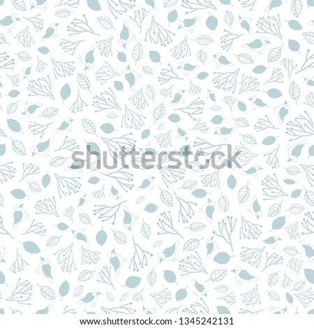 stock-vector-birds-vector-repeat-pattern-pastel-dusty-blue-monochromatic-birds-and-leaves-on-a-white