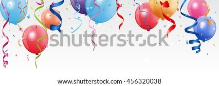 Birthday and celebration banner