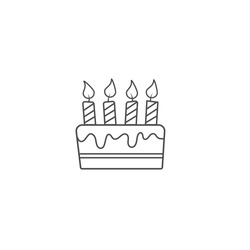 Birthday cake. An empty polygon. Vector illustration isolated on a white background. Flat Style