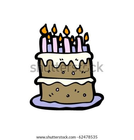 birthday cake cartoon. stock vector : irthday cake