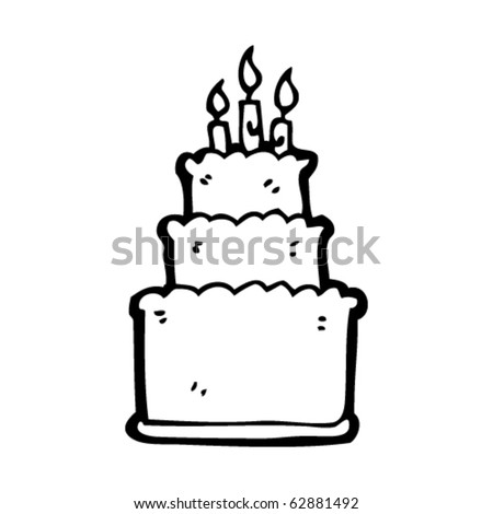 birthday cake cartoon pictures. stock vector : irthday cake