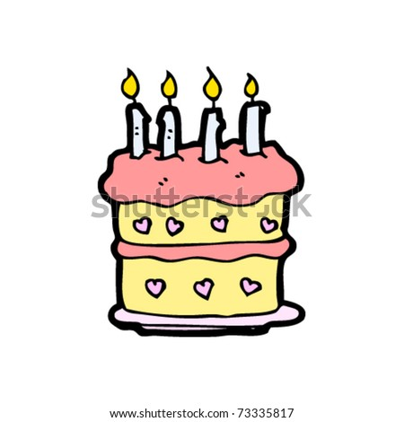 birthday cake cartoon images. stock vector : irthday cake
