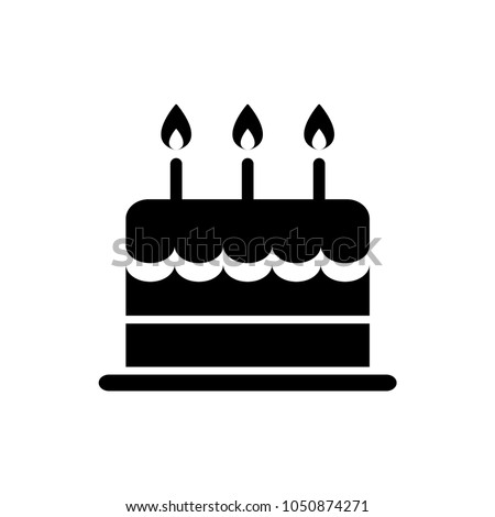 birthday cake icon isolated vector