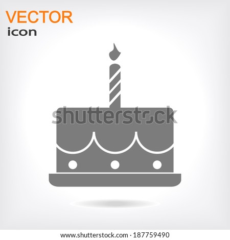 birthday cake icon vector illustration Flat design style