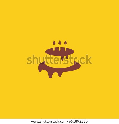 Birthday cake logo design